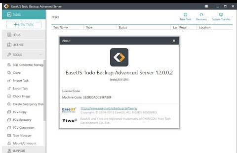 EaseUS Todo Backup Advanced Server Crack 13.2.0.2 + Serial Key [Latest]