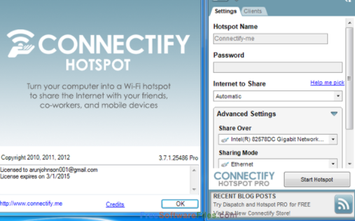 Connectify Hotspot Pro 2021 Crack + Activation Key [Latest]